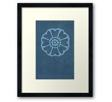 Order of the White Lotus Framed Print