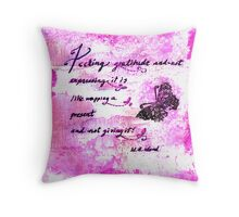 Feeling Gratitude Quote Throw Pillow
