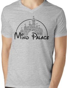 Mind Palace - (black text) Mens V-Neck T-Shirt