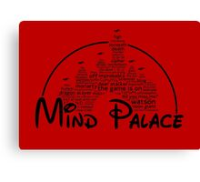 Mind Palace - (black text) Canvas Print