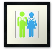 Gamer Couple Framed Print