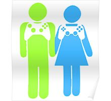 Gamer Couple Poster