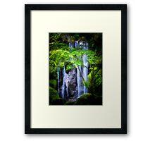 Enlightening Falls Framed Print