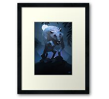 Hungry werewolf Framed Print