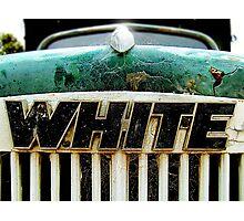 WHITE Photographic Print