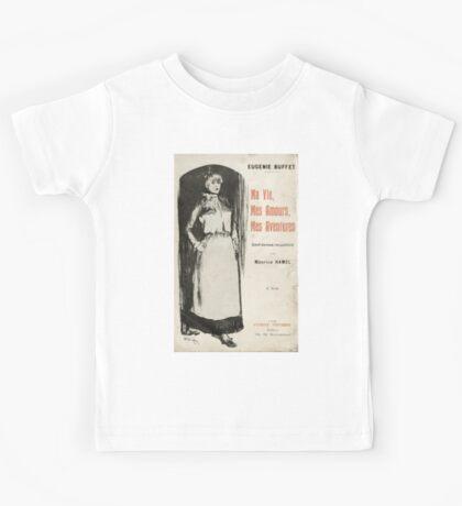 Théophile Alexandre Steinlen Eugénie Buffet «Ma Vie Mes Amours Mes Aventures» Steinlen Kids Tee