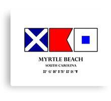 Myrtle Beach Nautical Flag Canvas Print