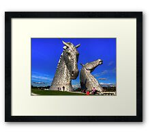 Kelpies at The Helix Framed Print