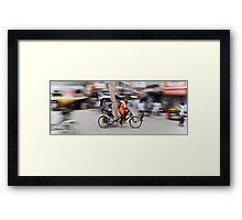 Beating the Traffic Framed Print