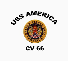 USS America (CVA/CV-66) Crest Unisex T-Shirt