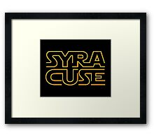 Syracuse in Star Wars font Framed Print