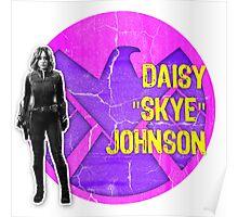 "Daisy ""Skye"" Johnson Grunge Poster"