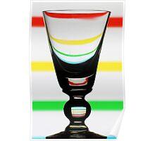 Stripey Glass Poster