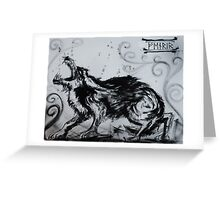 FENRIR Wolf Greeting Card