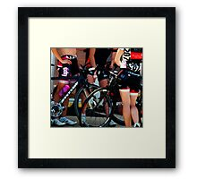 Race Afterglow Framed Print