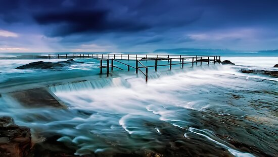 Tempest at the Baths by Mark  Lucey