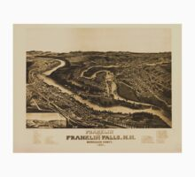 Panoramic Maps Franklin and Franklin Falls NH Merrimack County 1884 Kids Tee