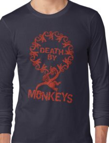 Death by 12 monkeys Long Sleeve T-Shirt