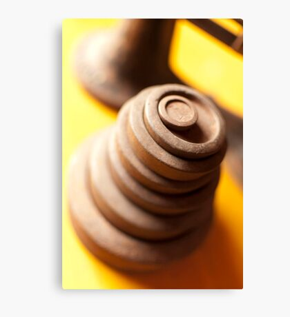 Scale weights Canvas Print
