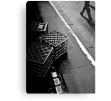 The lonely life of a milk crate (watching the world go by) Metal Print