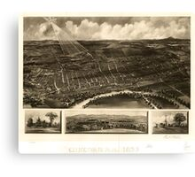Panoramic Maps Concord NH 1899 Canvas Print