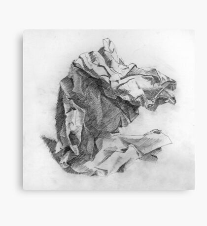 crumpled paper Canvas Print
