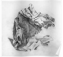 crumpled paper Poster