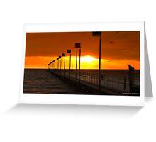 Angry skies at sunset 002 Greeting Card