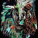 Lion multicolor by weirdbird