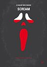 No121 My SCREAM minimal movie poster by Chungkong