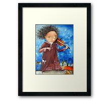Fiddler Framed Print