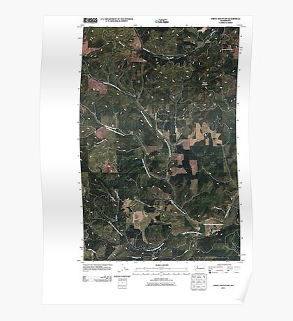 USGS Topo Map Washington State WA Empey Mountain 20110429 TM Poster