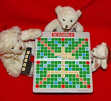 Teddy Bear Challenge Game of Scrabble by AnnDixon