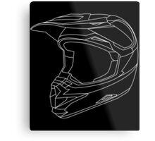 Mx Helmet White Metal Print