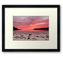 Sunset at Calgary Bay Framed Print