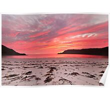 Sunset at Calgary Bay Poster