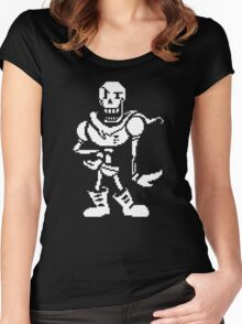 undertale - skeleton Women's Fitted Scoop T-Shirt