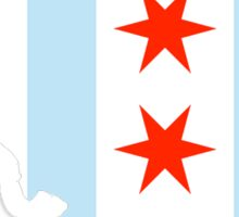 Chicago Illinois - Flag  Sticker