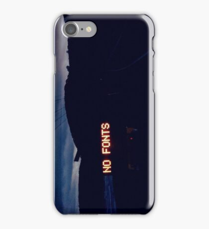 NO FONTS iPhone Case/Skin