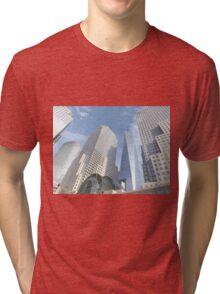 One World Trade Center, Lower Manhattan View, New York City Tri-blend T-Shirt