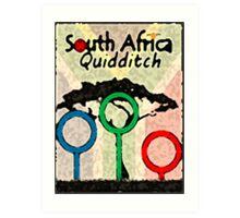 South Africa Quidditch Art Print