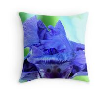 Stylized Hair Throw Pillow