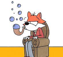 Bubble Fox: Stay Classy by JonsCrazyShirts