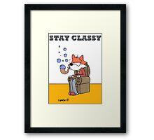Bubble Fox: Stay Classy Framed Print