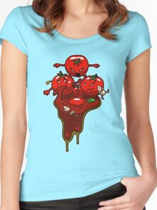 Food Fight Women's Fitted Scoop T-Shirt