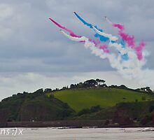 Dawlish Air show Red Arrows - Parson & Clark by CazSteffens