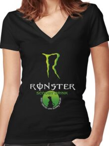 Ronster Energy Drink Women's Fitted V-Neck T-Shirt