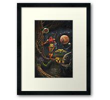 Moonlights on Zebes Framed Print