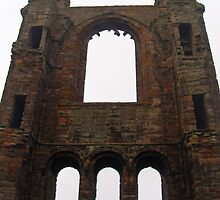 Eastern Gable, St. Andrews Cathedral, Scotland. by LBMcNicoll