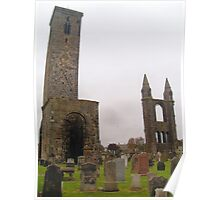 St. Andrews Cathedral Ruins, with St. Rule's Tower, Scotland. Poster
